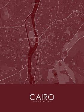 Cairo, Egypt Red Map
