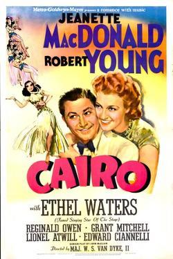 Cairo, US poster, Robert Young, Jeanette MacDonald, 1942
