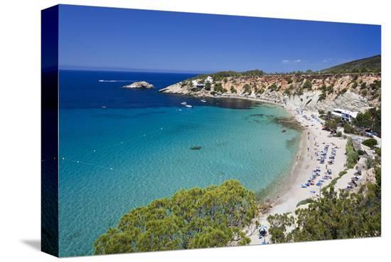 Cala d'Hort near Sant Josep de sa Talaia, Island of Ibiza, Balearic Islands, Spain--Stretched Canvas Print