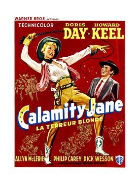 Calamity Jane, Doris Day, Howard Keel, (Belgian Poster Art), 1953