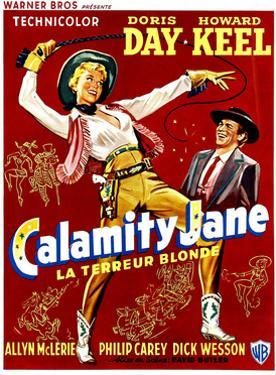 Calamity Jane, Doris Day, Howard Keel, (Belgian Poster Art), 1953