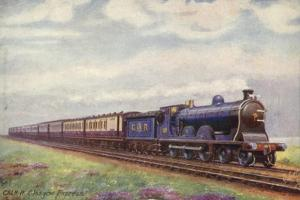 Caledonian Railway 4-6-0 Locomotive Pulling the Glasgow Express Train