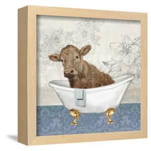 Calf 10 x 10 Framed Canvas