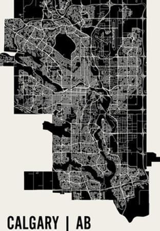Calgary Map Art Print
