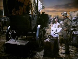 CALIFORNIA, 1946 directed by JOHN FARROW Barbara Stanwyck and Ray Milland (photo)