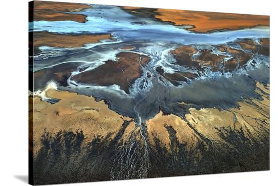 California Aerial The Desert From Above-Tanja Ghirardini-Stretched Canvas Print