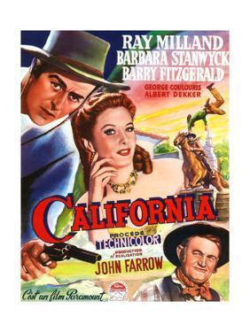 California, Belgian Poster Art, 1946