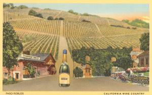 California Bottle of Champagne in Street, Paso Robles, California Wine Country