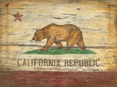 California Flag Wood Sign