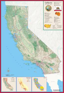 California Laminated Wall Map