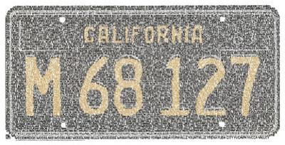 California License Plate Cities Text Art Print Poster