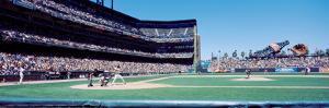 California, San Francisco, Sbc Ballpark, Spectator Watching the Baseball Game in the Stadium