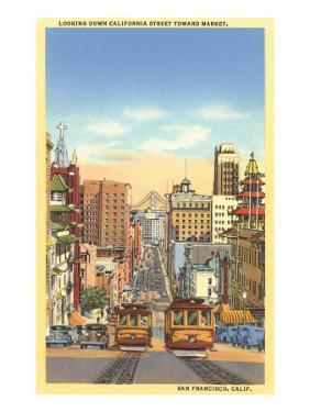 California Street, Cable Cars, San Francisco, California