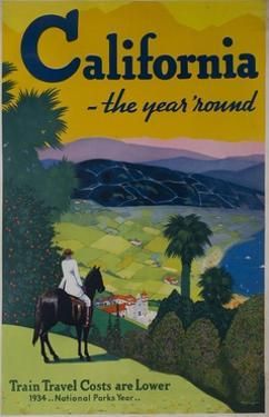 California the Year Round, Travel Poster