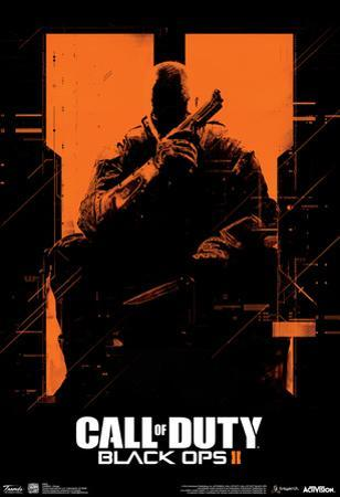 Call Of Duty Black Ops 2 Orange Video Game Poster