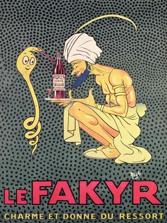 The Fakyr: Charmer and Giver of Spirit, Advertisement for 'Fakyr' Aperitif
