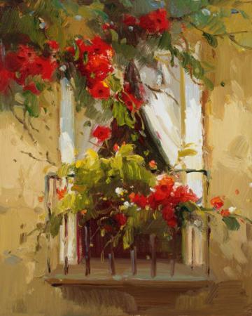 Romantic Window I by Calvin Stephens