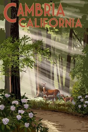 https://imgc.allpostersimages.com/img/posters/cambria-california-deer-and-forest_u-L-Q1GQMRP0.jpg?p=0