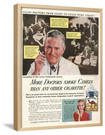 Camels, Cigarettes Smoking Medical, USA, 1946