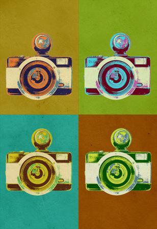 Camera Vintage Style Pop Art Poster