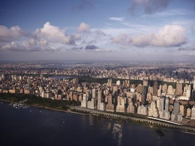 Western view of New York City and Hudson River in late afternoon by Cameron Davidson