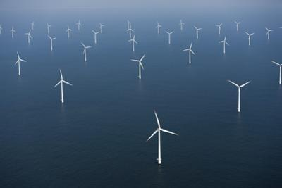 Wind Farm in Ocean by Cameron Davidson