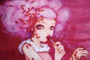 Cotton Candy Curly Cue by Camilla D'Errico