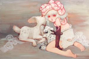 Pink Birthday Cake by Camilla D'Errico