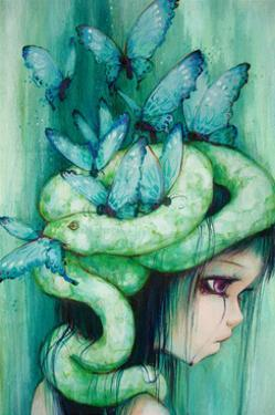 The Purple Tear Girl by Camilla D'Errico
