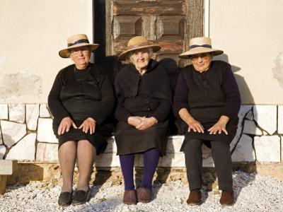 Alentejo, Estremoz, Three Elderly Portuguese Ladies Near in Alentejo Region, Portugal by Camilla Watson