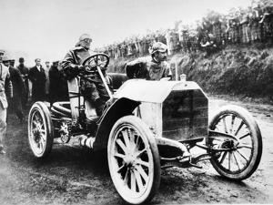 Camille Jenatzy in His 60 Hp Mercedes, Winner of the Gordon Bennett Race, Athy, Ireland, 1903