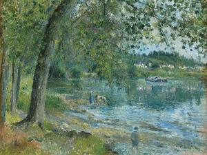 Banks of the Oise at Auvers-Sur Oise; Bords De L'Oise a Auvers-Sur-Oise, 1878 by Camille Pissarro