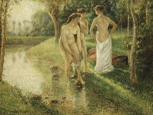 Bathers, 1896 by Camille Pissarro