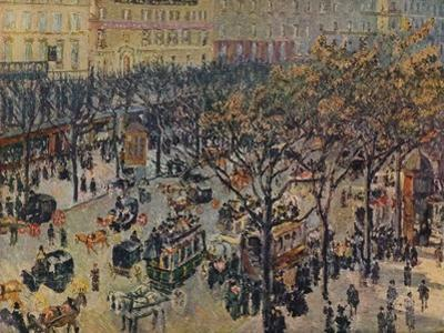 'Boulevard Montmartre', 1897 by Camille Pissarro