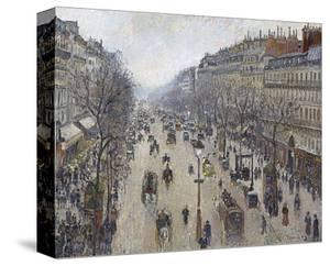 Boulevard Montmartre, Morning, Cloudy Weather, 1897 by Camille Pissarro
