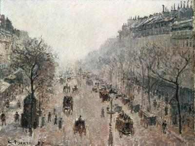 Boulevard Montmartre on a Foggy Sunny Morning, 1897 by Camille Pissarro