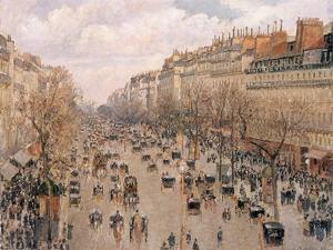 Boulevard Montmartre, Paris by Camille Pissarro
