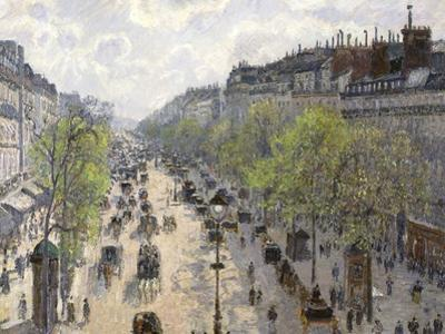 Boulevard Montmartre, Spring, 1897 by Camille Pissarro