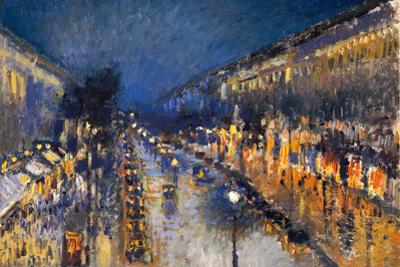 Camille Pissarro The Boulevard Montmartre by Camille Pissarro