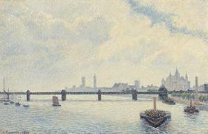 Charing Cross Bridge, London, 1890 by Camille Pissarro