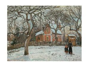 Chateigniers a Louveciennes, vers 1872 Chestnut trees at Louveciennes, around 1872 Canvas, 41x54 cm by Camille Pissarro