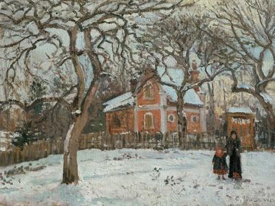 Chateigniers a Louveciennes, vers 1872 Chestnut trees at Louveciennes, around 1872 Canvas, 41x54 cm