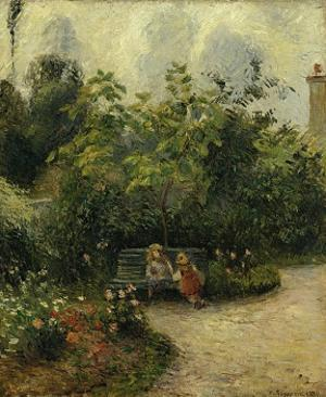 Corner of a Garden at the Hermitage, c.1877 by Camille Pissarro