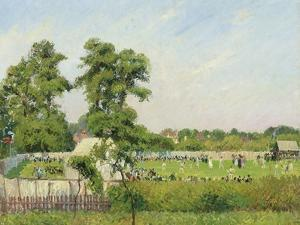 Cricket Match at Bedford Park, London, 1897 by Camille Pissarro