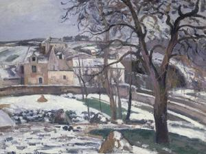Effet de Neige a L'Hermitage, Pontoise, 1875 by Camille Pissarro