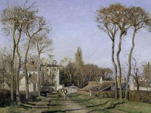 Entrance to the Village of Voisins, c.1872 by Camille Pissarro