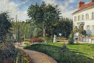 Garden of Les Mathurins at Pontoise, 1876 by Camille Pissarro