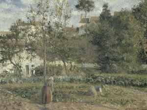Jardin potager à L'Hermitage, Pontoise by Camille Pissarro