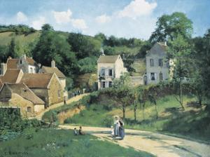 L'Hermitage at Pontoise, c.1867 by Camille Pissarro