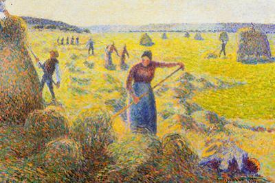 Camille Pissarro La Recolte des Foins Eragny Art Print Poster
